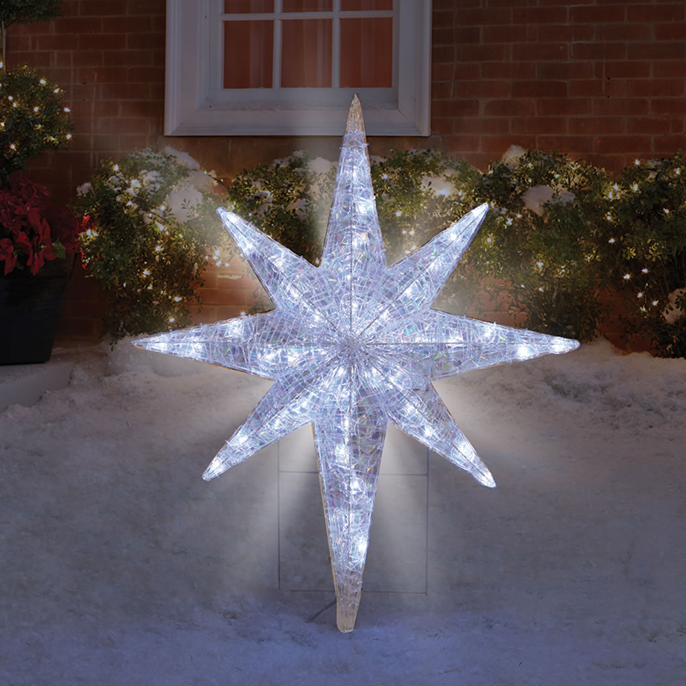 if you want a brightly lit outdoor environment then make sure that you go for the star outdoor lights - Shooting Star Christmas Lights Outdoor