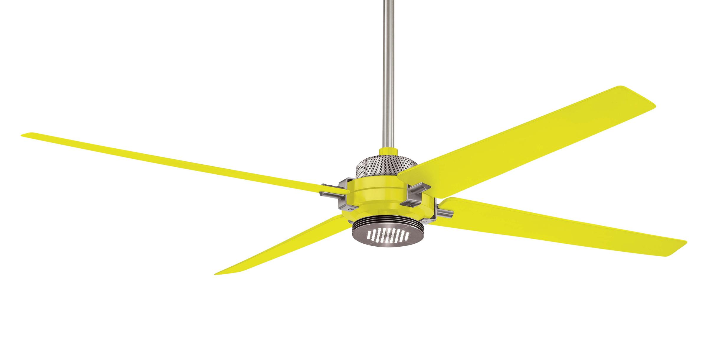 Yellow ceiling fan for a sunny home decor
