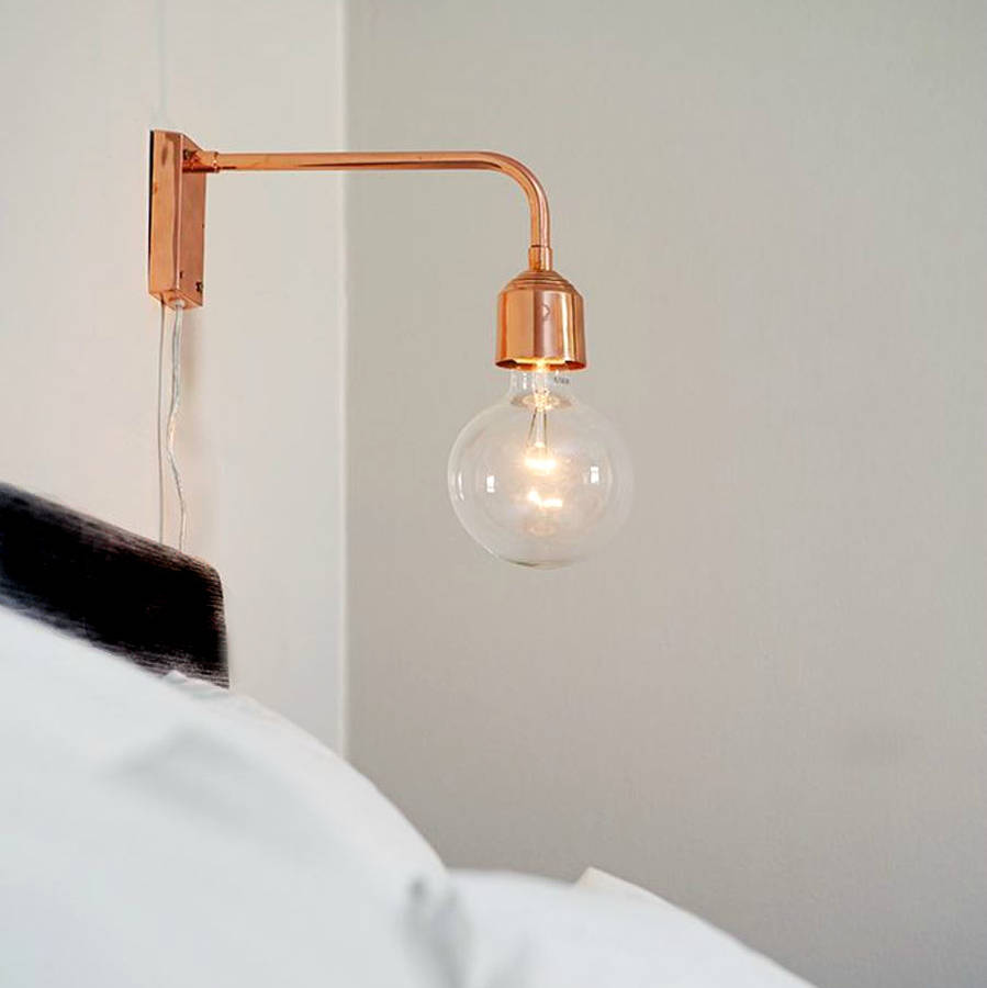 Lighting up your night through switching on the wall for Wall light fixtures bedroom
