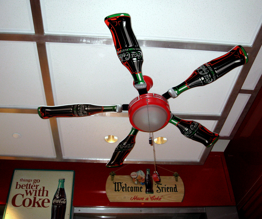Coca cola ceiling fans tips for buyers warisan lighting coca cola ceiling fans tips for buyers aloadofball Gallery