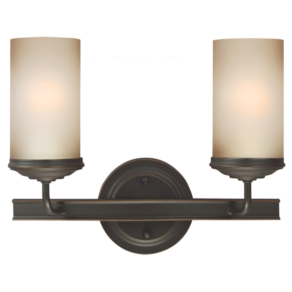 2 light wall sconce bronze photo - 9
