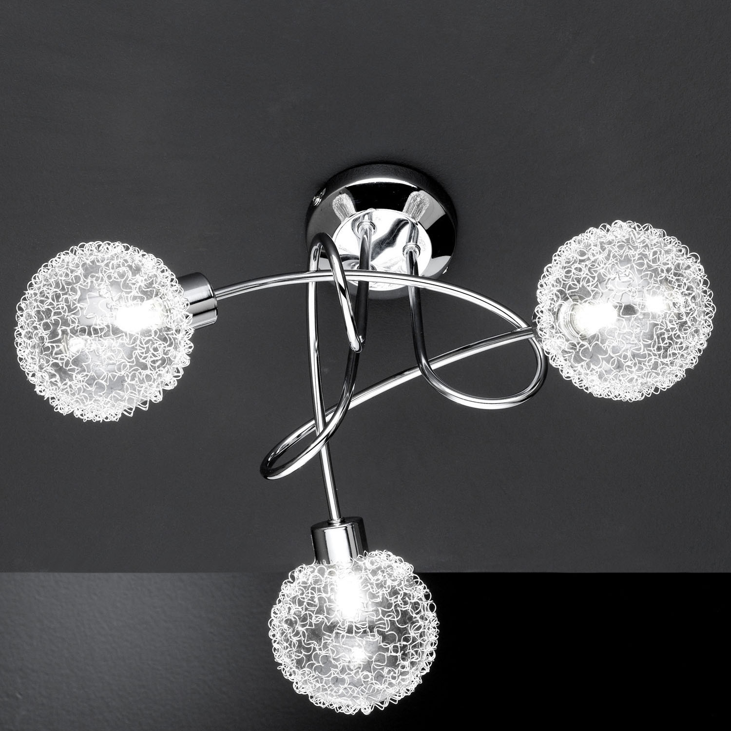 3 bulb ceiling light photo - 6