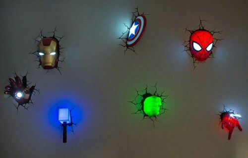 3d avengers wall lights photo - 9