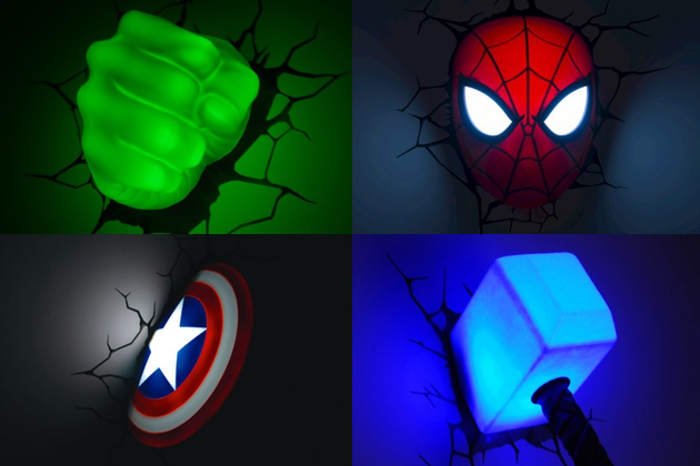 3d marvel wall lights photo - 3