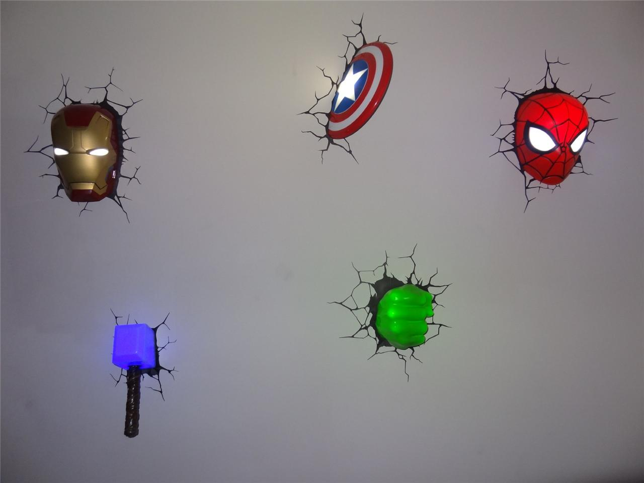 3d marvel wall lights photo - 4
