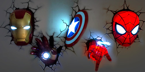 3d marvel wall lights photo - 5
