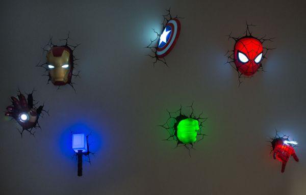3d superhero wall light photo - 1