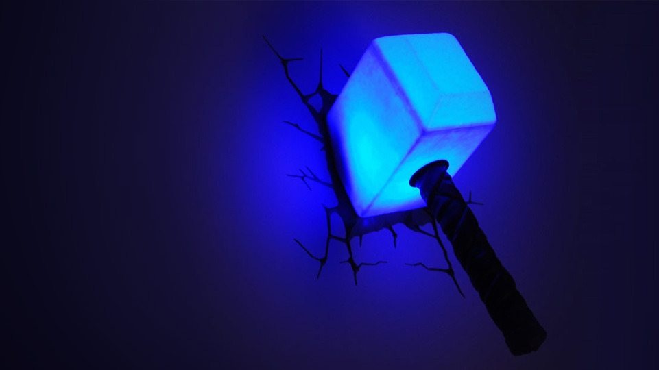3d superhero wall light
