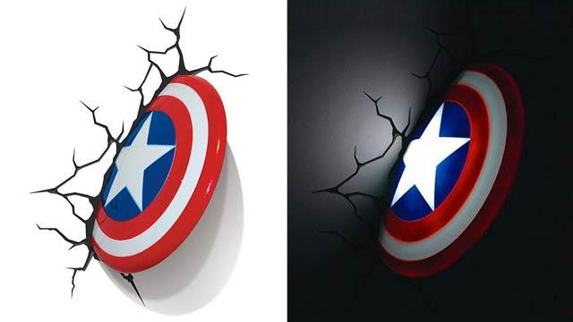 3d superhero wall light photo - 9