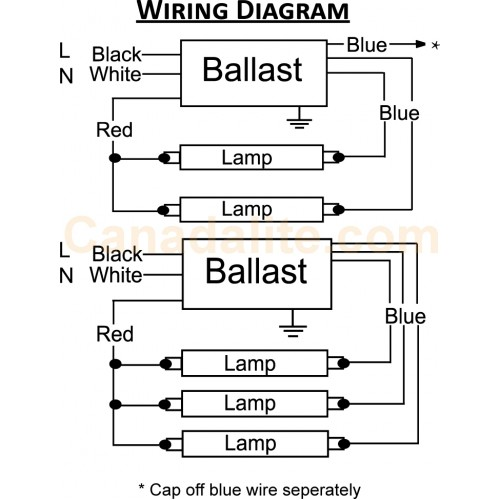4 lamp ballast | warisan lighting 277v ballast wiring diagram #14