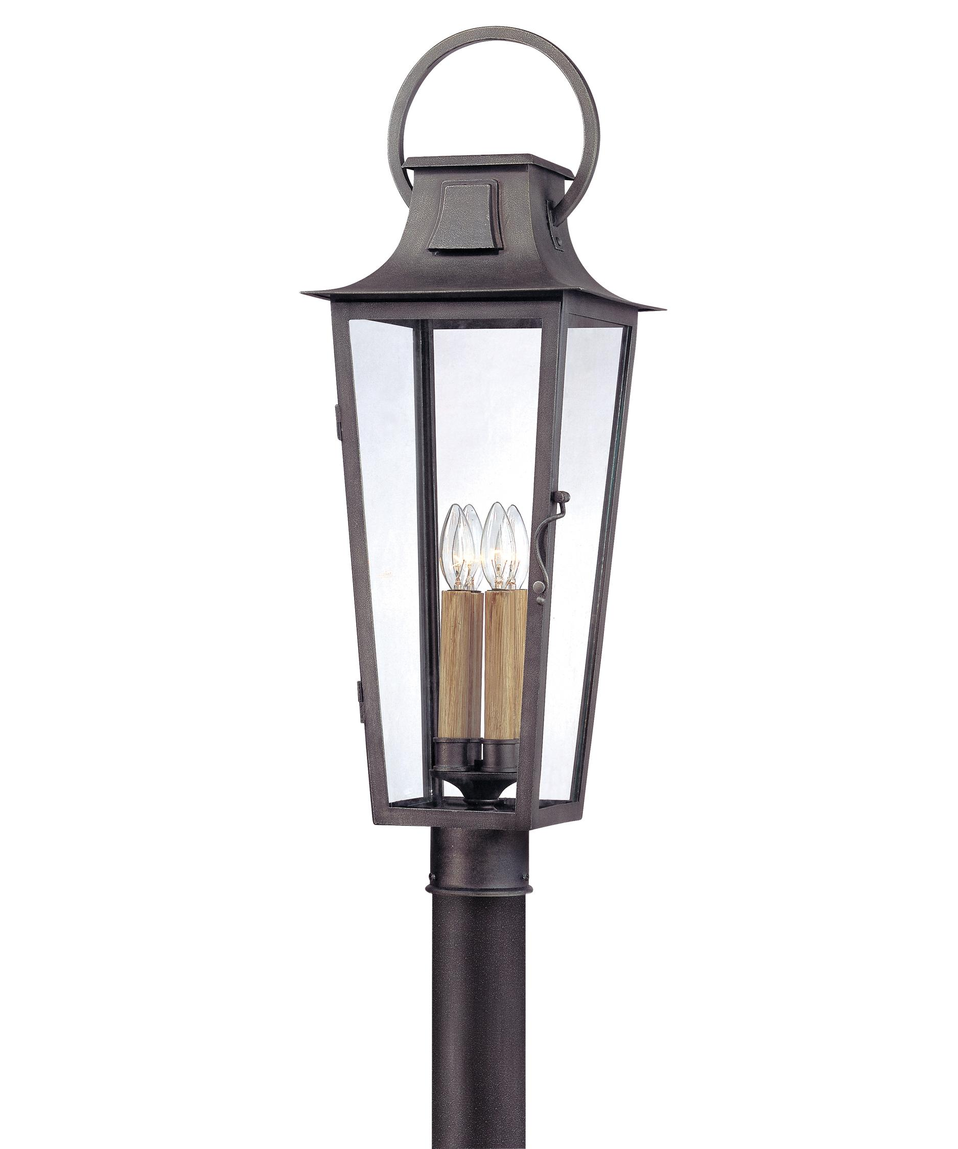 4 light outdoor post lamp photo - 2