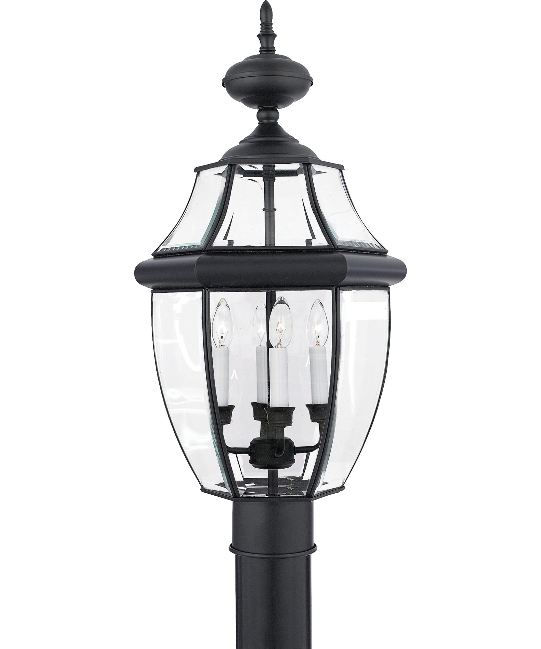 4 light outdoor post lamp photo - 3