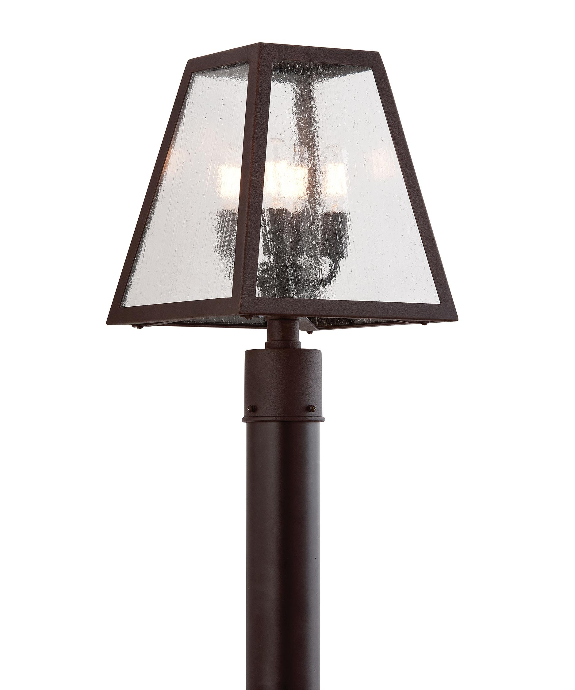 4 light outdoor post lamp photo - 4