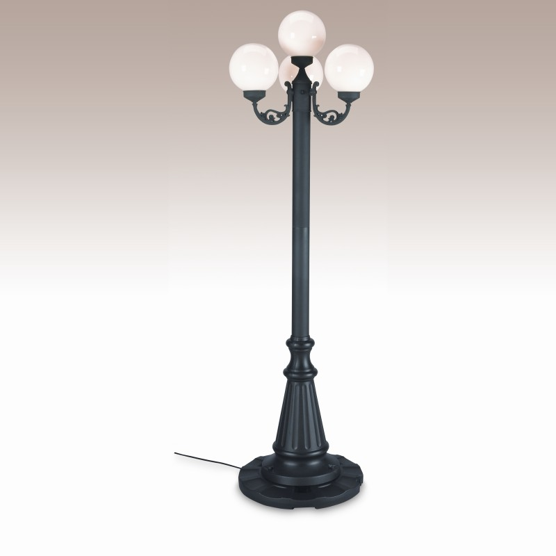 4 light outdoor post lamp photo - 6