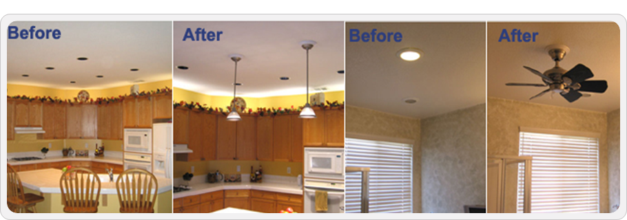 Converting Single Kitchen Light To Multiple Recessed Light