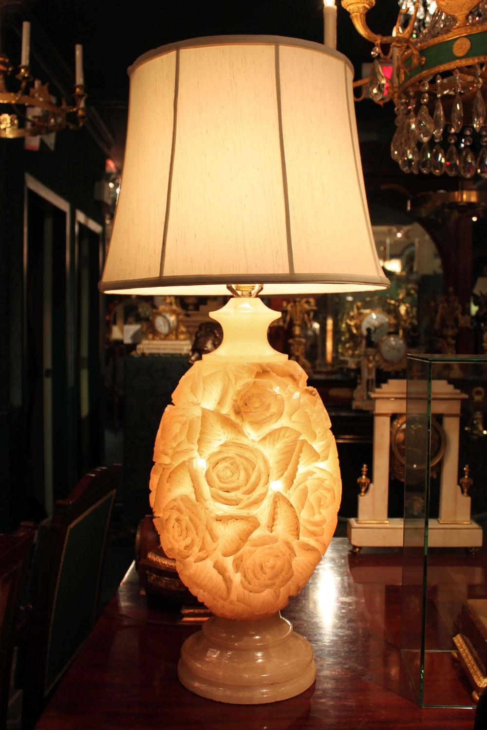 alabaster lamps photo - 6