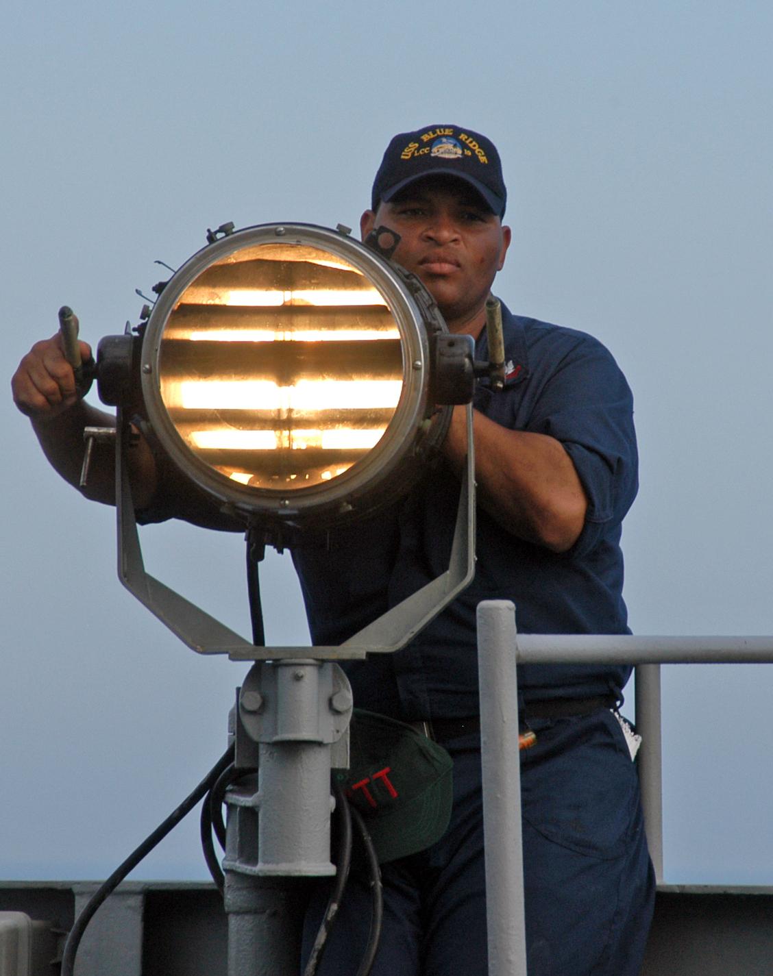 aldis lamp signals photo - 2