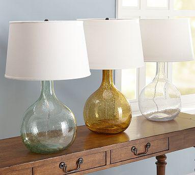 amber glass lamps photo - 4