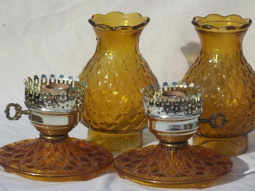 amber glass lamps photo - 5