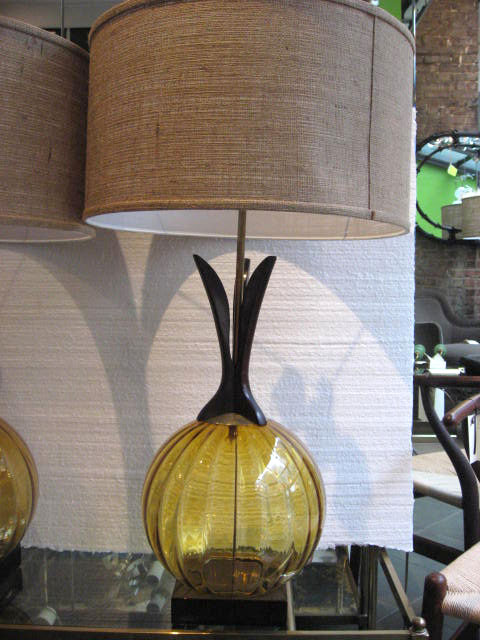 amber glass lamps photo - 9