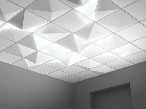 angled ceiling lights photo - 2