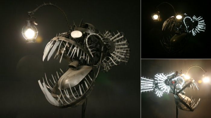 angler fish lamp photo - 3