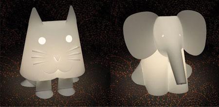 animal lamps photo - 2