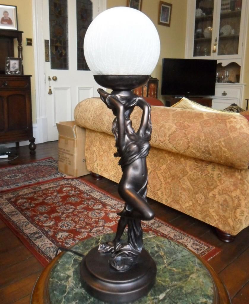 antique art deco lamps photo - 2