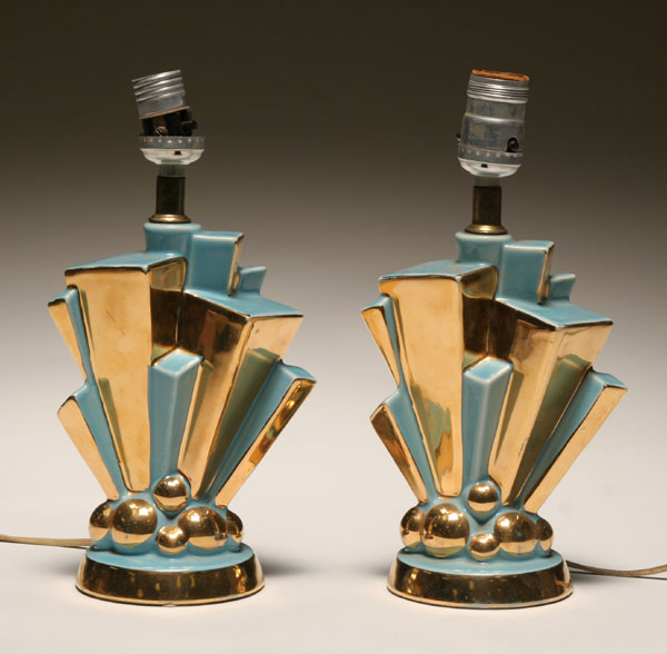 antique art deco lamps photo - 3