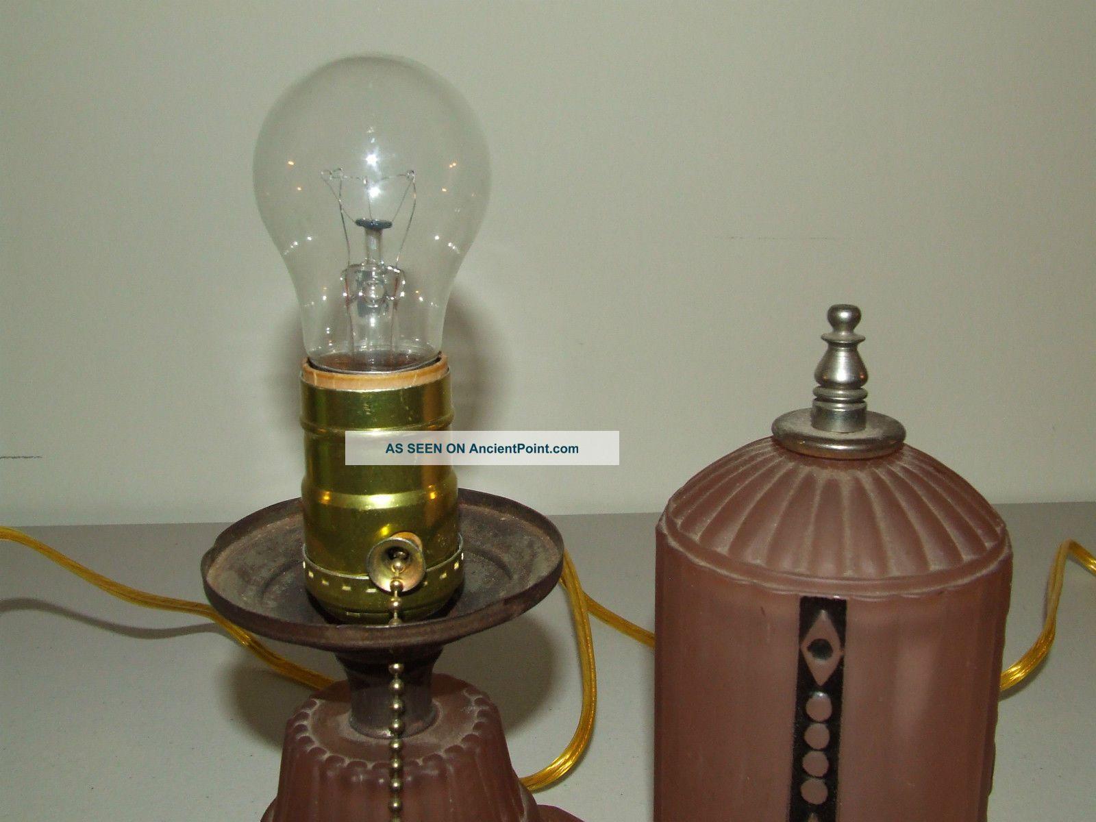 antique art deco lamps photo - 9