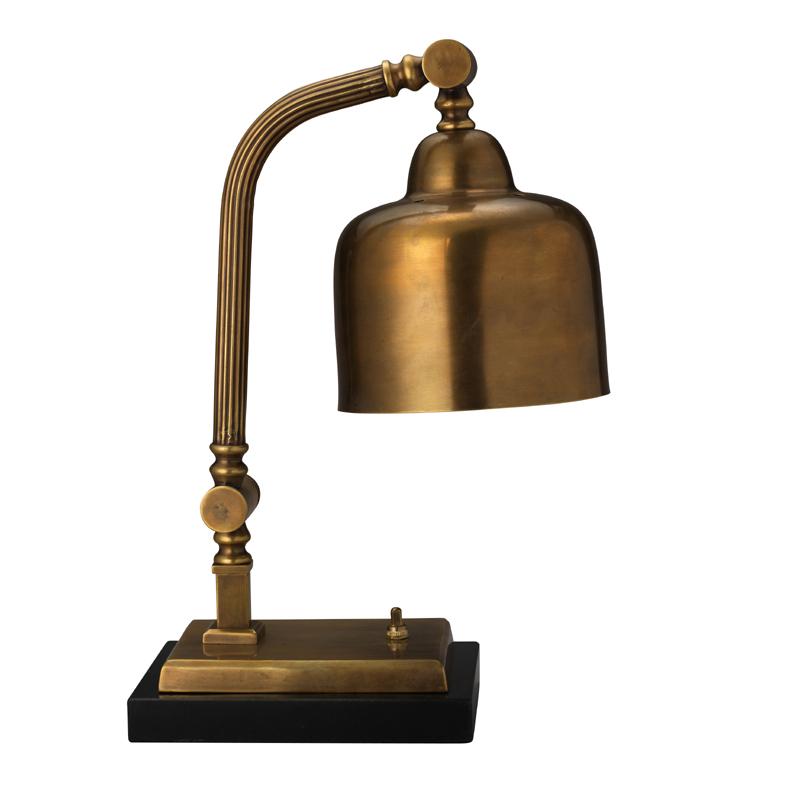antique brass desk lamp photo - 2