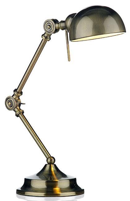 antique brass desk lamp photo - 4