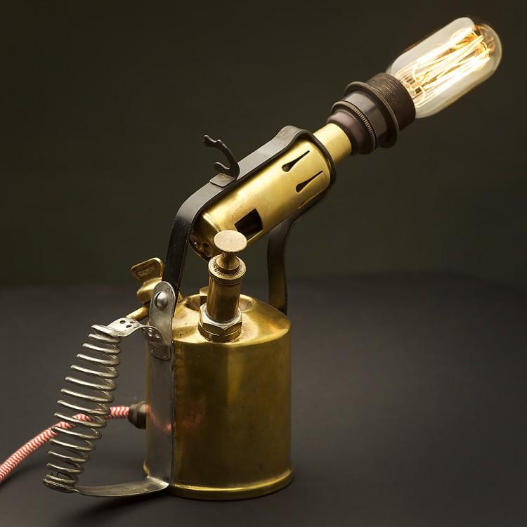 antique brass desk lamp photo - 5