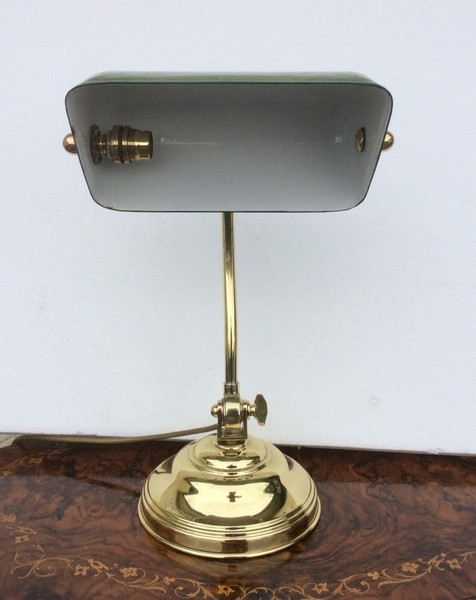antique brass desk lamp photo - 9