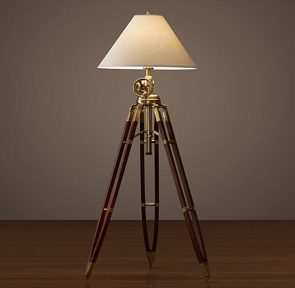 antique brass floor lamps photo - 1