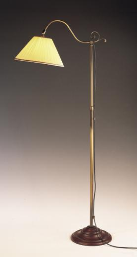 antique brass floor lamps photo - 3