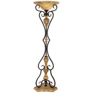 antique brass floor lamps photo - 4