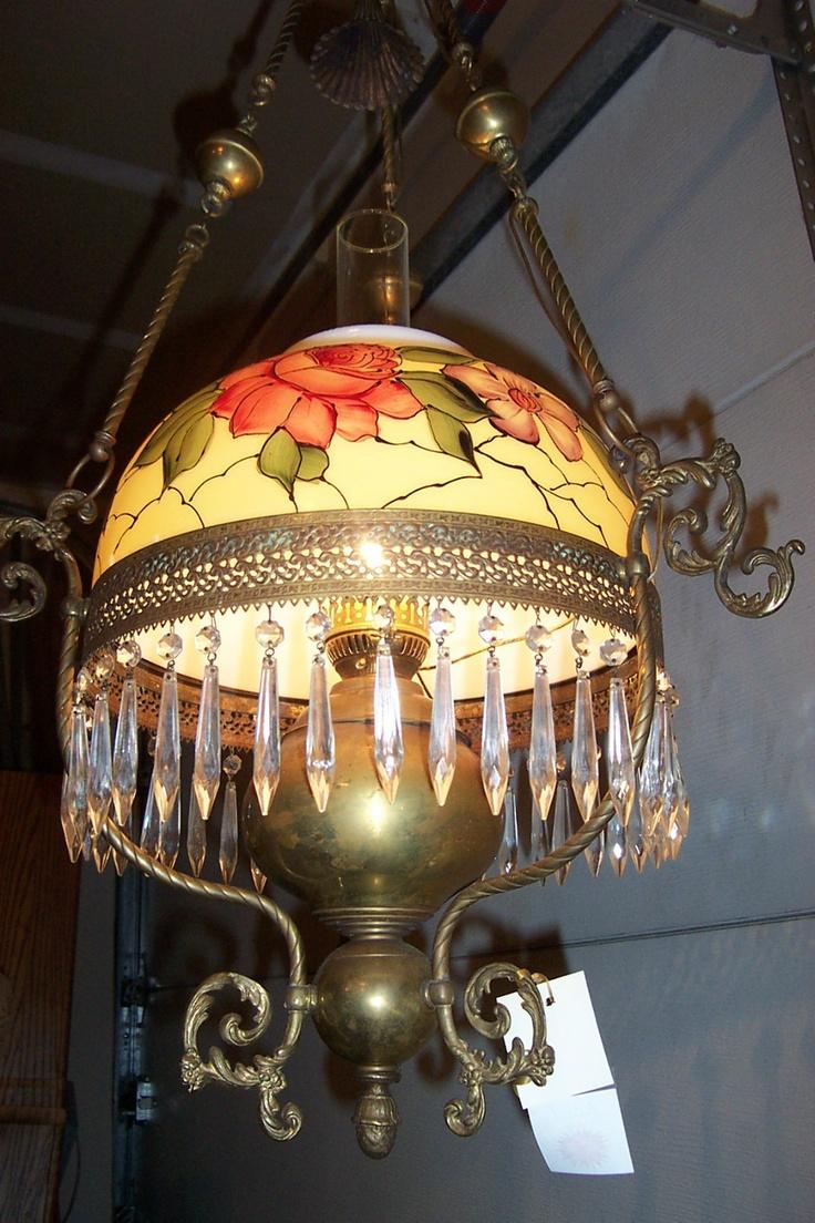 antique brass oil lamps photo - 1