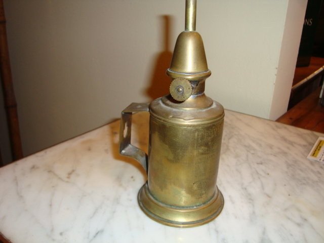 antique brass oil lamps photo - 2