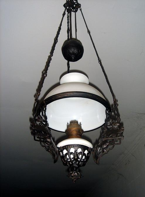 antique brass oil lamps photo - 7