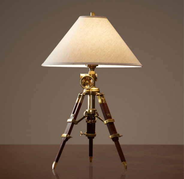 antique brass table lamps photo - 1