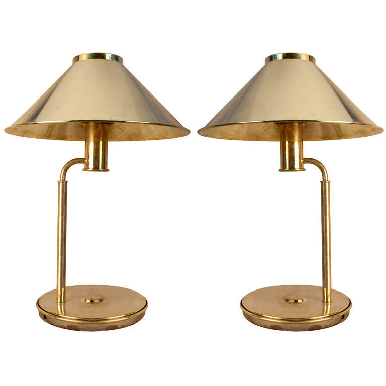 antique brass table lamps photo - 9
