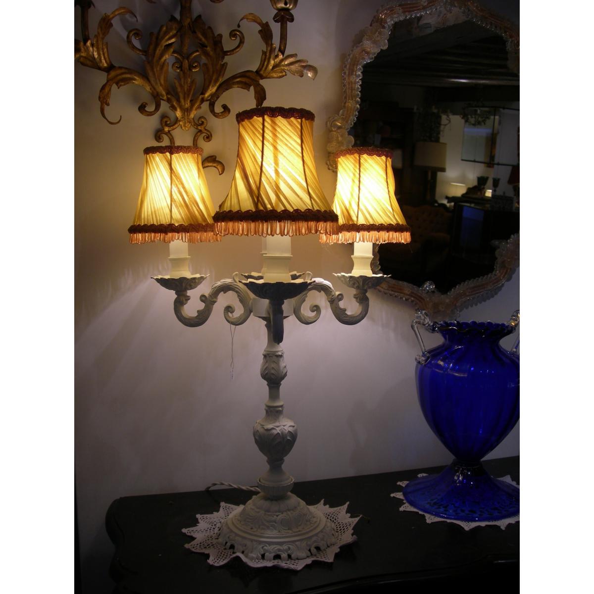 antique bronze table lamp photo - 6