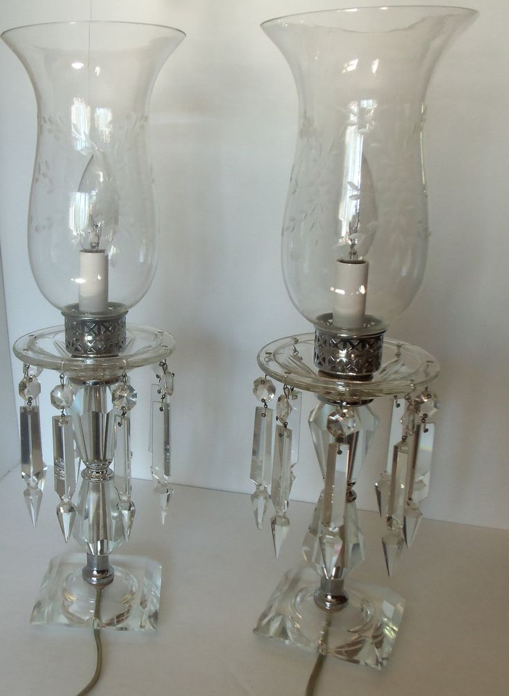 antique crystal lamps photo - 1