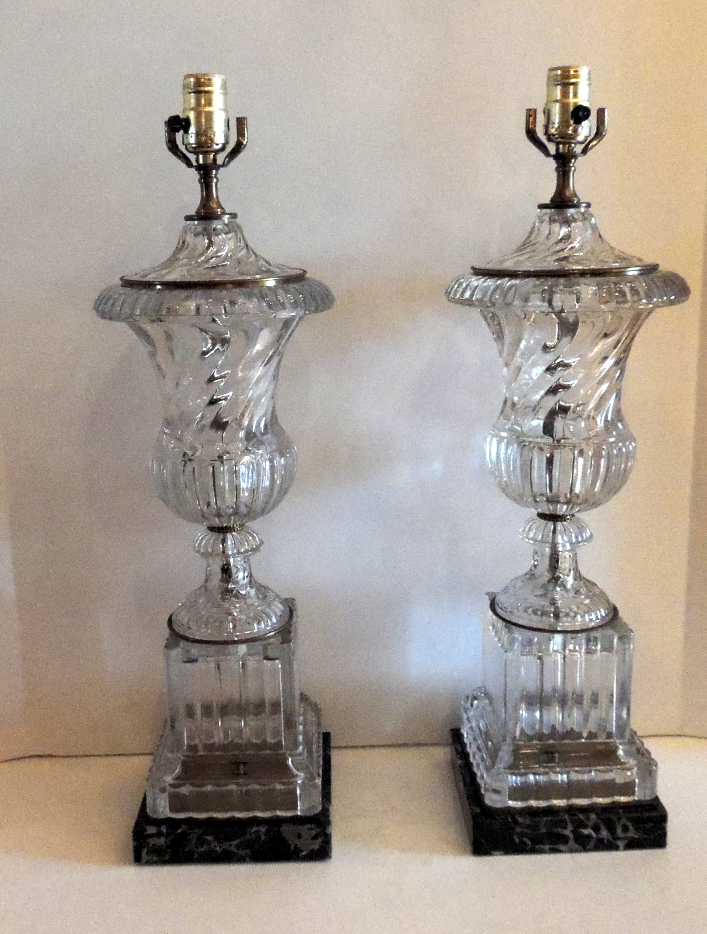 antique crystal lamps photo - 10