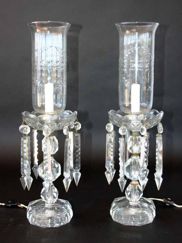 antique crystal lamps photo - 2