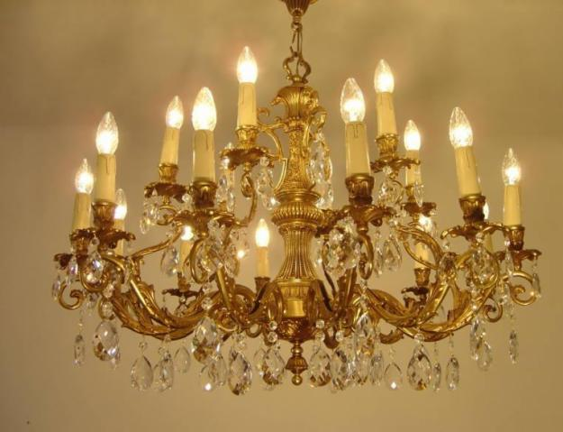 antique crystal lamps photo - 3