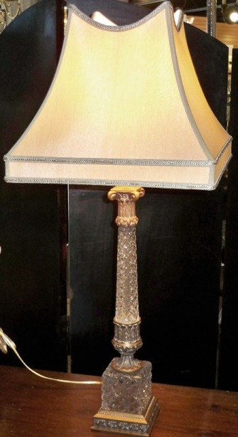 antique crystal lamps photo - 7