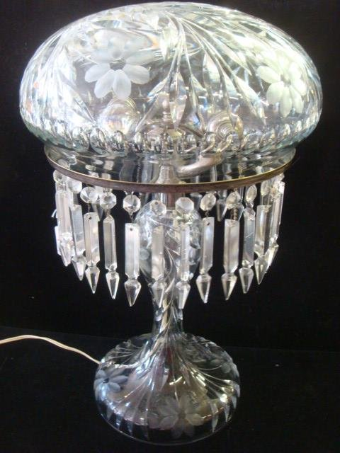 antique baccarat crystal table lamps photo uk drop lamp
