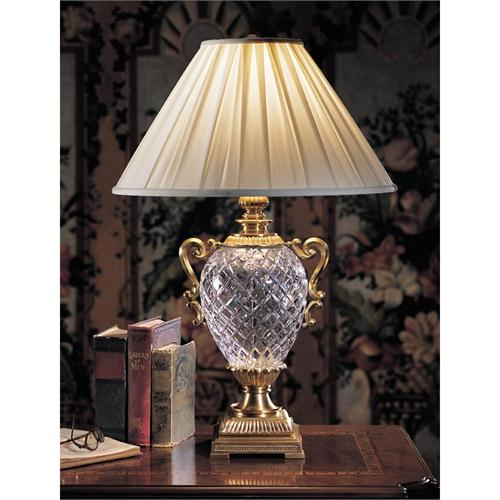 antique crystal table lamps photo - 3